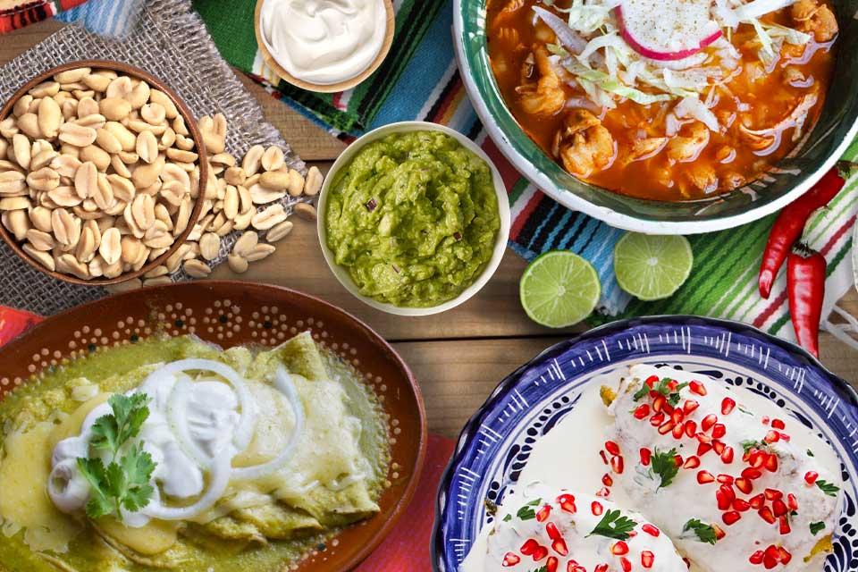 Cena tricolor Organiza tu noche mexicana con 3 deliciosos platillos
