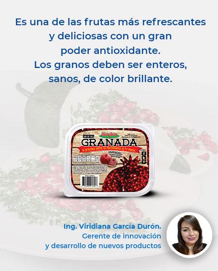 Es una de las frutas más refrescantes y deliciosas con un gran poder antioxidante. Los granos deben ser enteros, sanos, de color brillante.