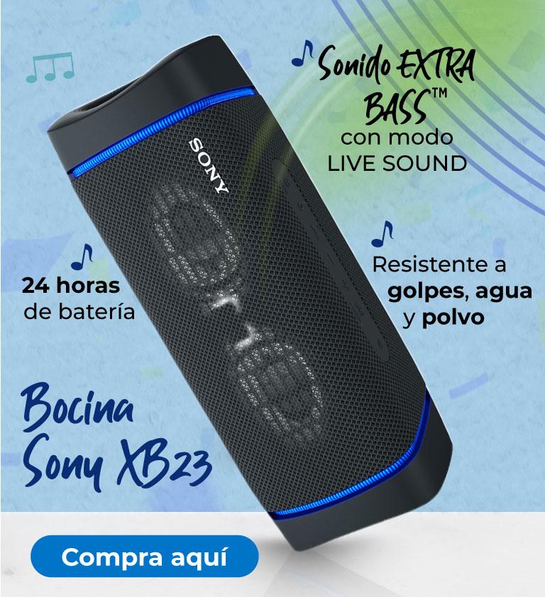 Bocina Sony XB33 Sonido EXTRA BASS con modo LIVE SOUND
