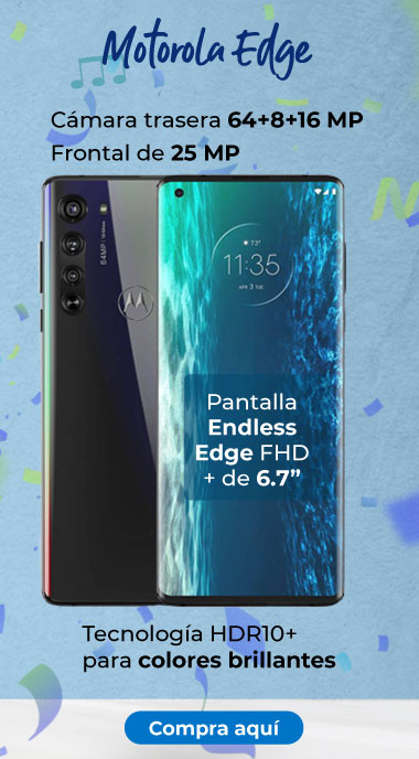 """Motorola Edge Pantalla Endless Edge FHD + de 6.7"""""""