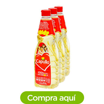 Aceite Vegetal Capullo 3 pzas de 845 ml
