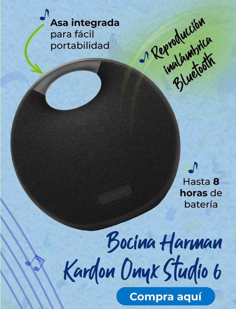 Bocina Harman Kardon Onyx Studio 6 Asa integrada para fácil portabilidad