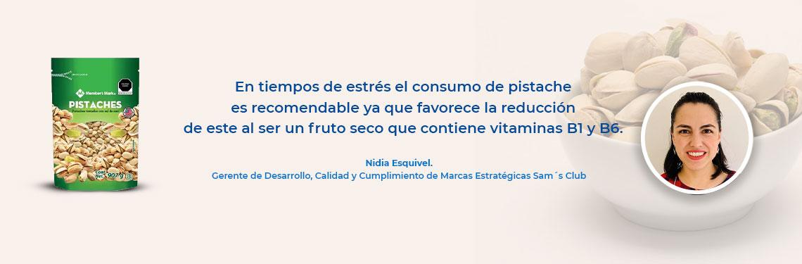 En tiempos de estrés el consumo de pistache es recomendable ya que favorece la reducción de este al ser un fruto seco que contiene vitaminas B1 y B6.