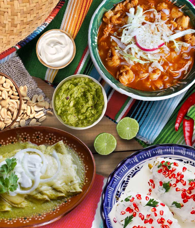 Menú tricolor noche mexicana