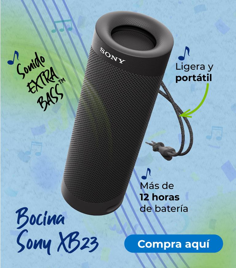 Bocina Sony XB23 Ligera y portátil