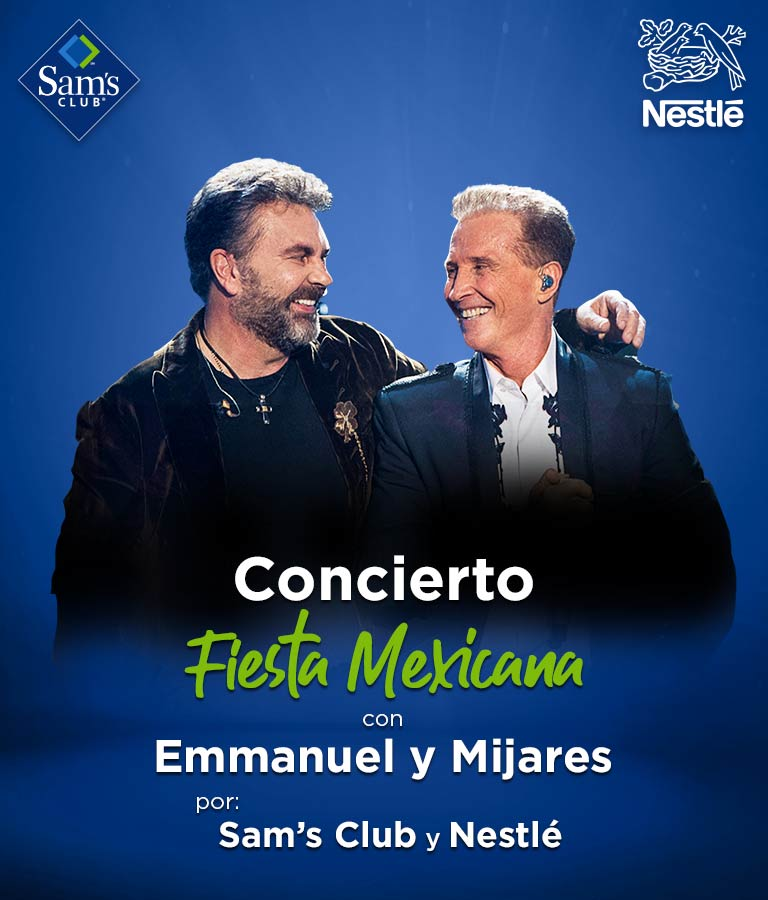 Concierto ¡Fiesta Mexicana! Con Emmanuel y Mijares