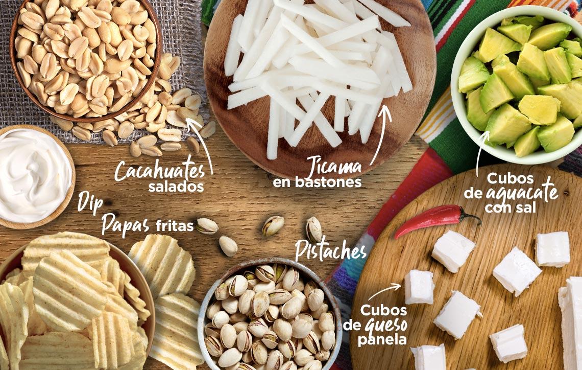Tabla de botanas muy mexicana