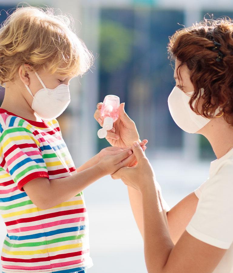 Jabón antibacterial, gel y toallitas