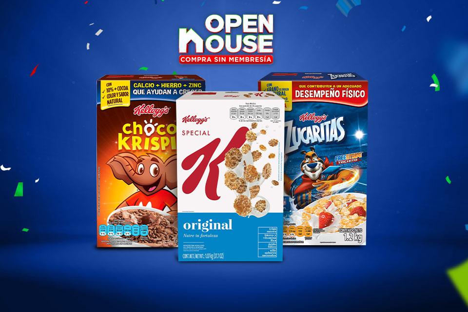 Este Open House, disfruta los cereales Kellogg's al mejor precio