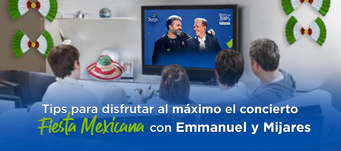 Tips para disfrutar al máximo el concierto Fiesta Mexicana con Emmanuel y Mijares