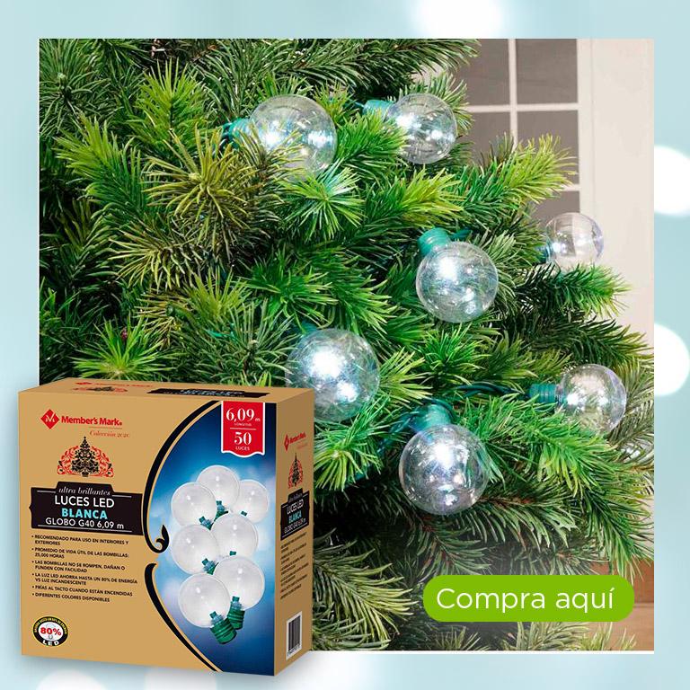 Luces LED blanca globo, 50 luces, Member's Mark