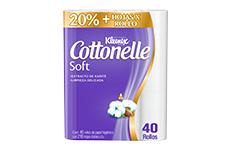 Papel higiénico Kleenex Cottonelle Soft Care, 40 rollos. Cottonelle.