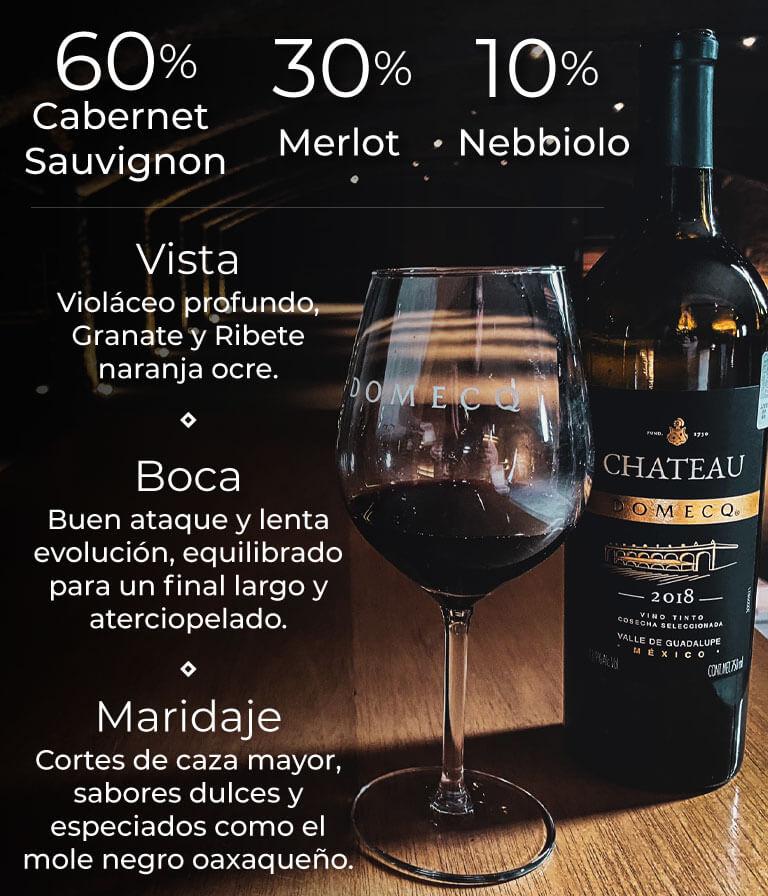 60% Cabernet Sauvignon / 30% Merlot / 10% Nebbiolo