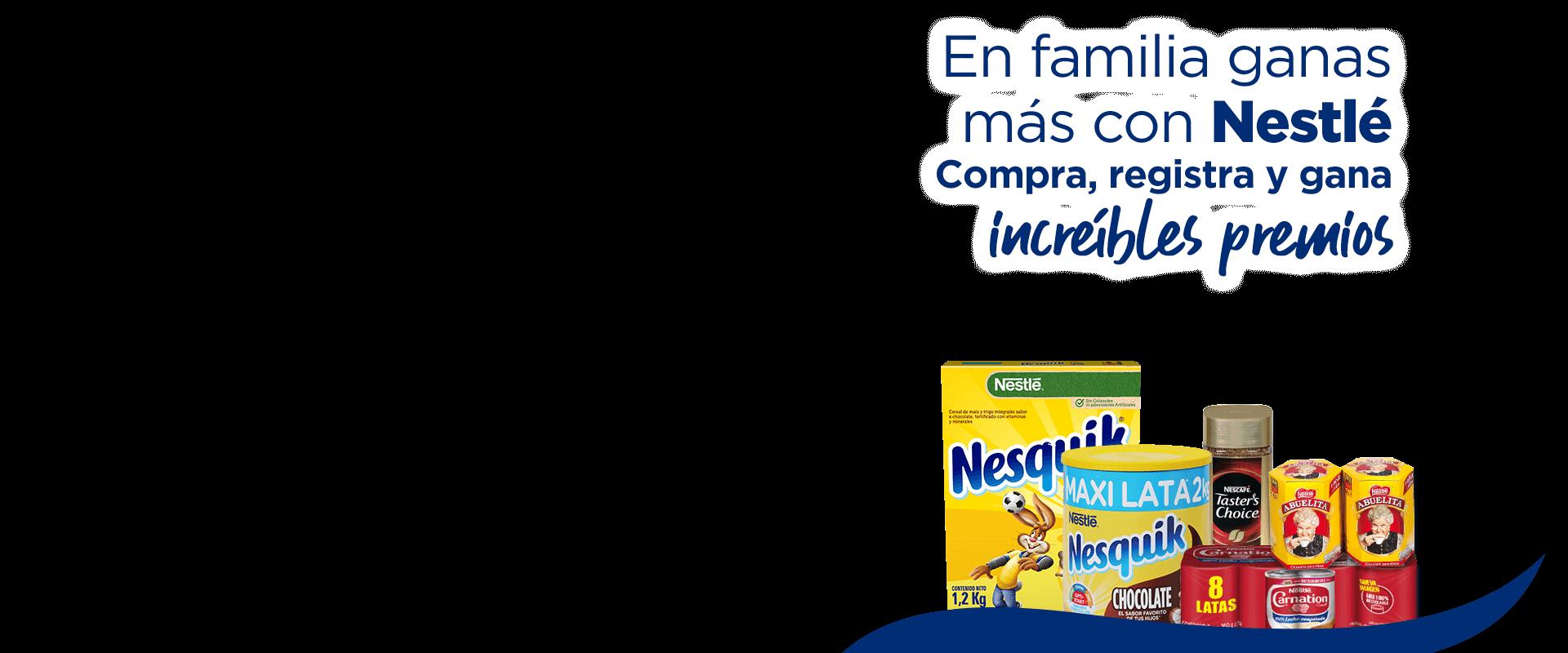 En familia ganas más con Nestlé