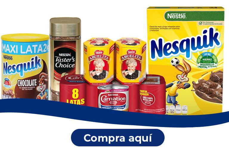 Productos promoción. Nestlé