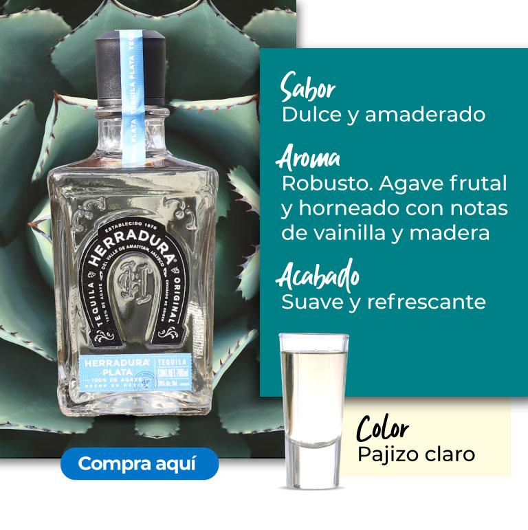 Tequila plata. Aroma Robusto. Agave frutal y horneado con notas de vainilla y madera