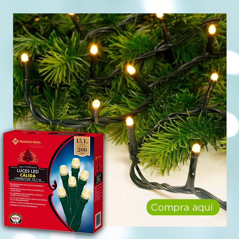 Luces LED cálidas cable verde, 200 luces, Member's Mark