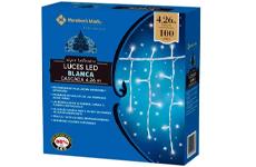 Cascada de luces LED, 100 luces blancas. Member's Mark.