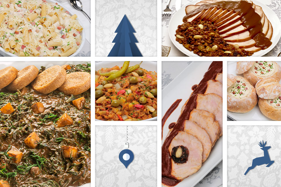 Cenas navideñas listas para servir