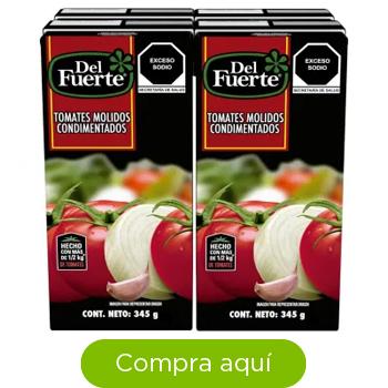 Tomates Molidos Condimentados Del Fuerte 4 pzas de 345 g c/u