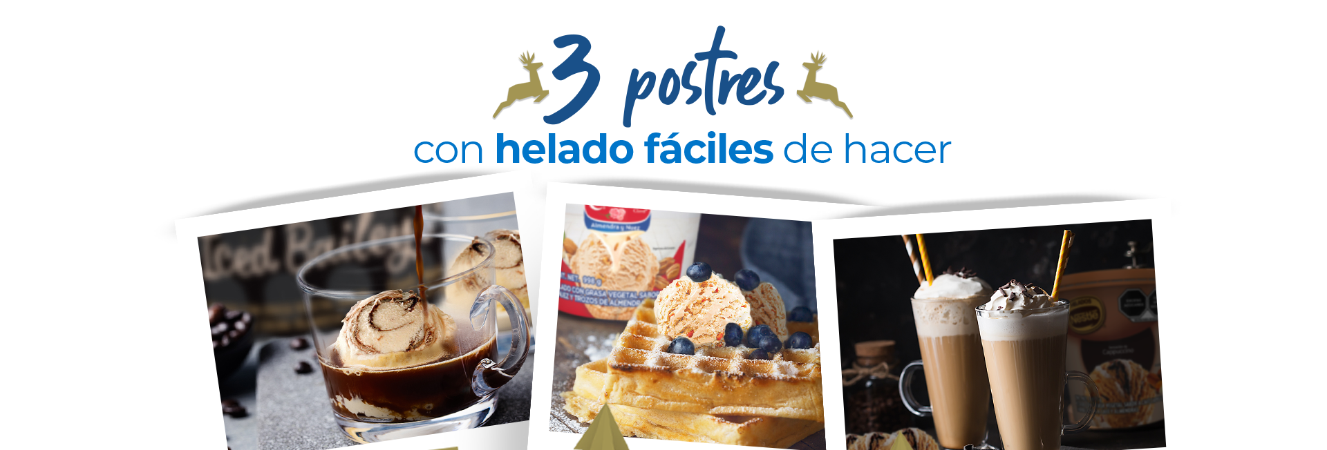 3 postres fáciles de hacer con helado
