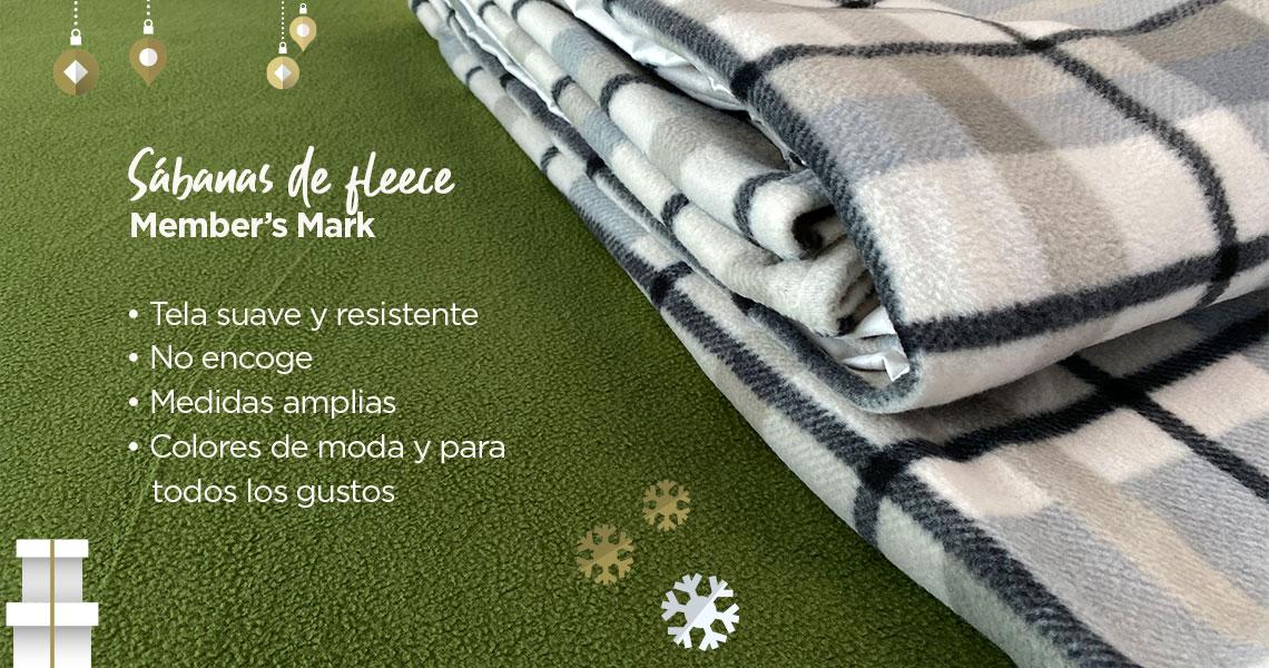 Sábanas de fleece Member's Mark Tela suave y resistente No encoge Medidas amplias Colores de moda y para todos los gustos