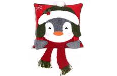Cojín navideño, Pingüino. Member's Mark.