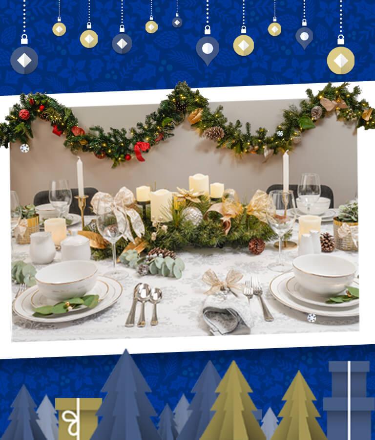 Mesa de Navidad - Adornos
