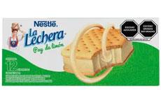 Sándwich helado sabor pay de limón, 12 pzas. Nestlé.