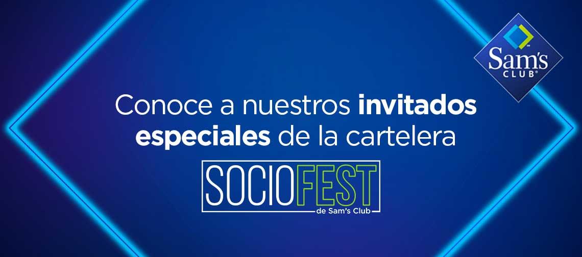 Conoce a nuestros invitados especiales de la cartelera SocioFest