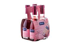Vino Rosado Riunite Lambrusco 4 pzas de 187 ml c/u