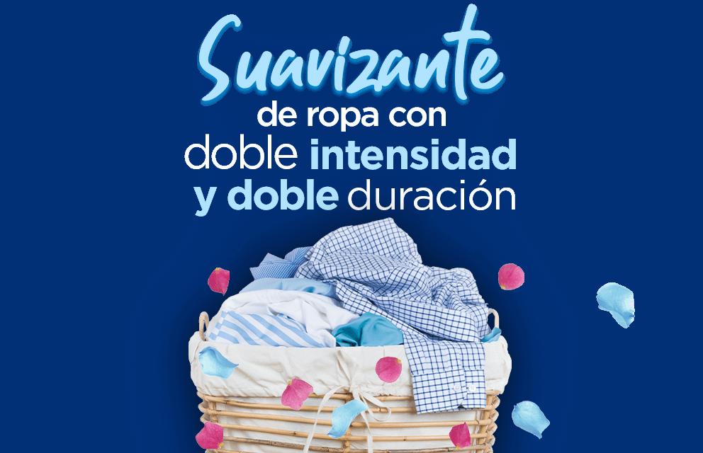 Suavizante de ropa con doble intensidad y doble duración