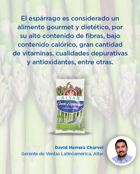 El espárrago es considerado un alimento gourmet y dietético, por su alto contenido de fibras, bajo contenido calórico, gran cantidad de vitaminas, cualidades depurativas y antioxidantes, entre otras.