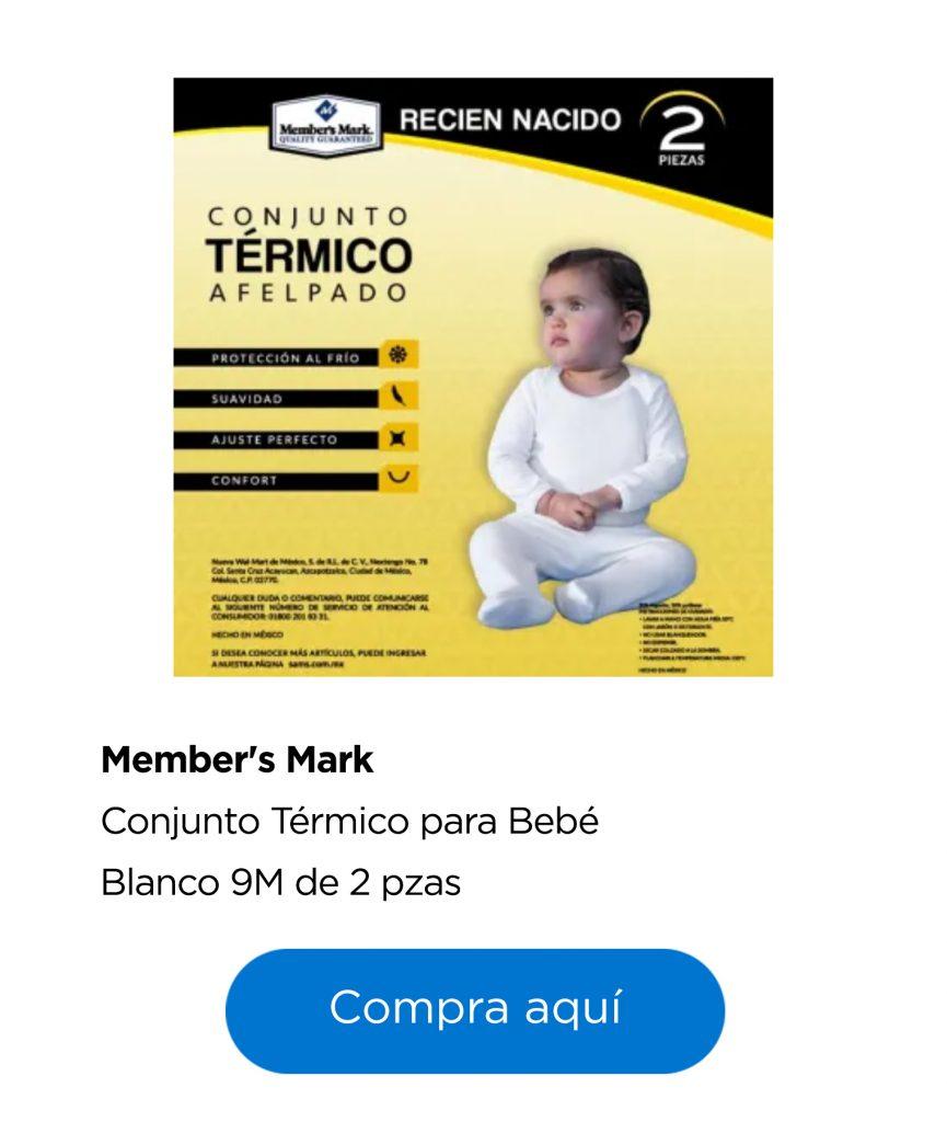 conjunto térmico para bebé