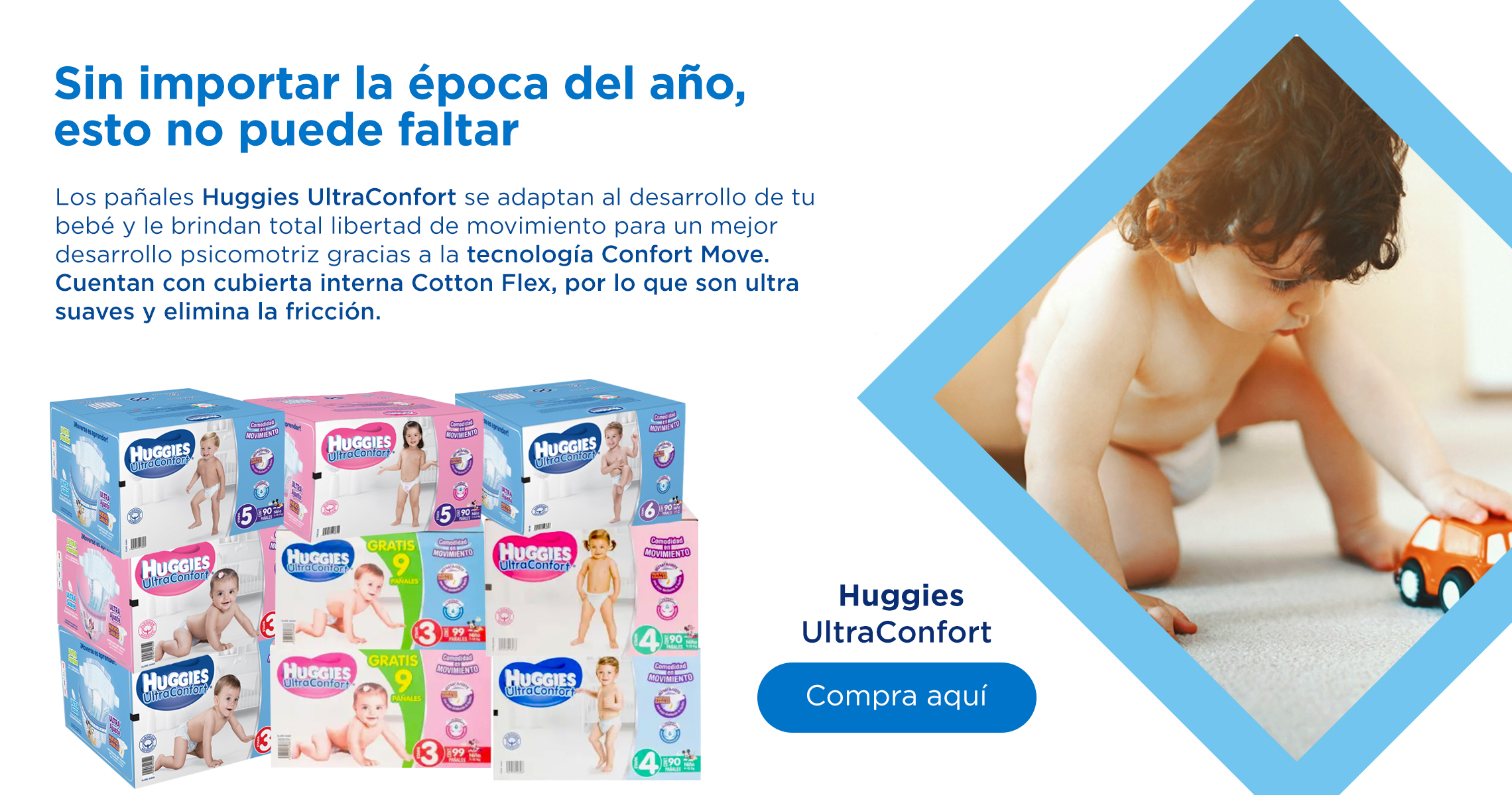 Pañales Huggies Ultraconfort