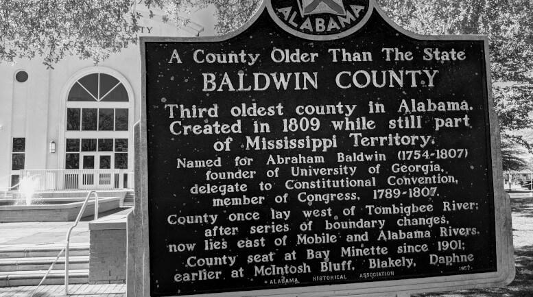 Baldwin County historical sign