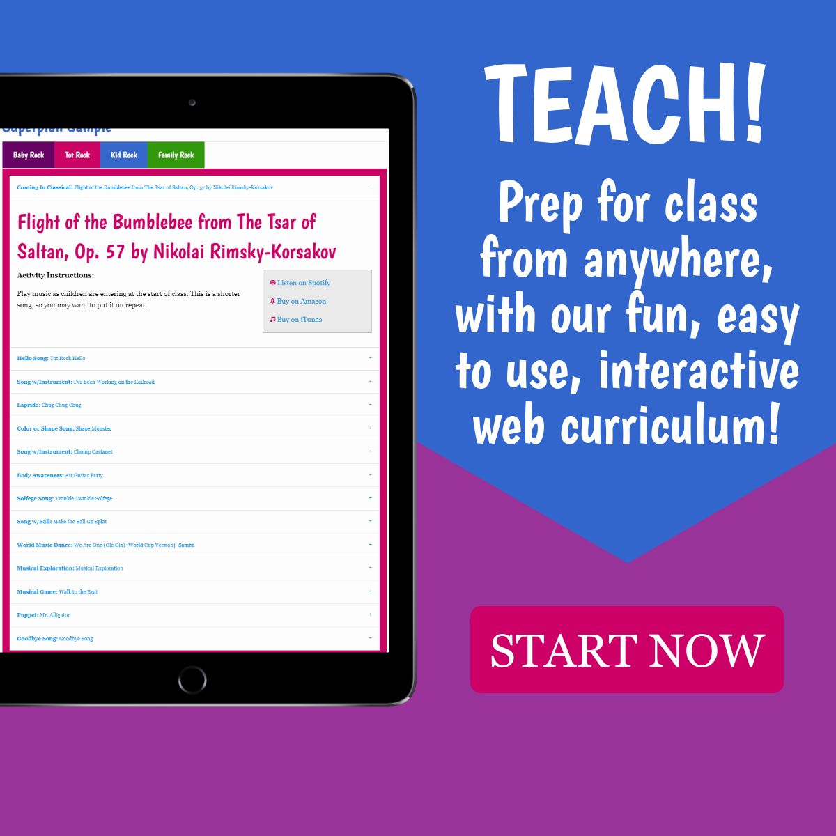 SO EASY! Prep for class from anywhere, with our easy to use, interactive web curriculum!