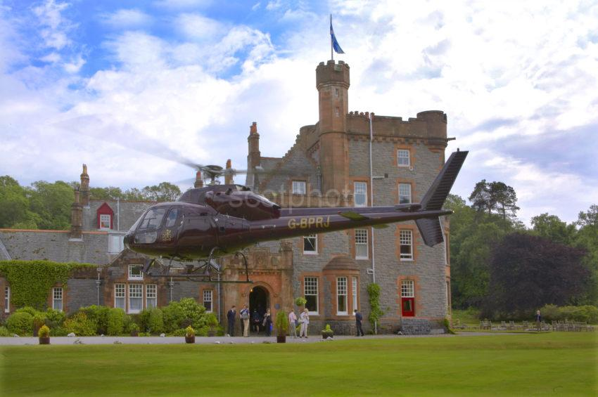 2005 Helicopter Takes Off From Eriska Hotel