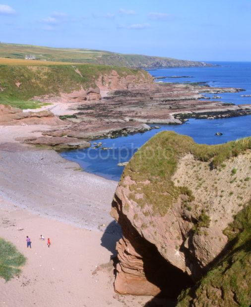 Sandstone Cliffs And Arches New Aberdour Nr Pennan