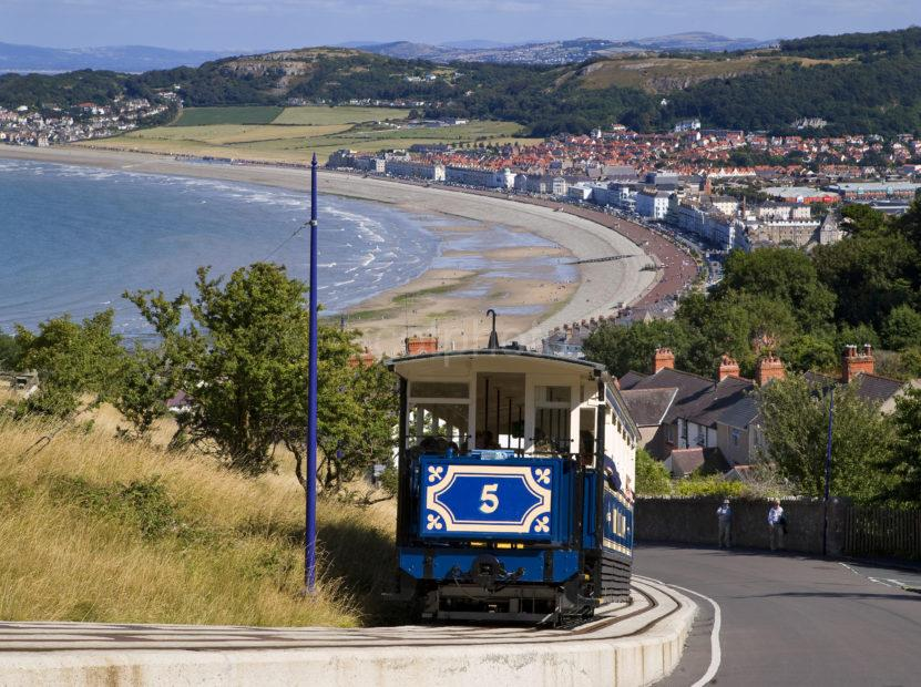 Great Shot From Tram Towards Town Llandudno