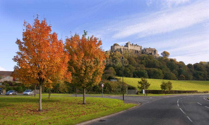 Stirling Castle In Autumn From Road