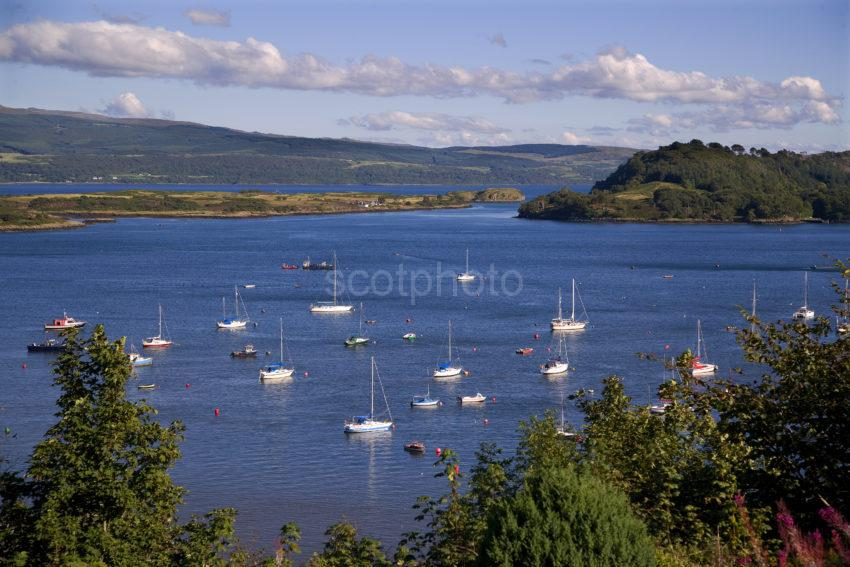 Tobermory Bay With Yachts Mull