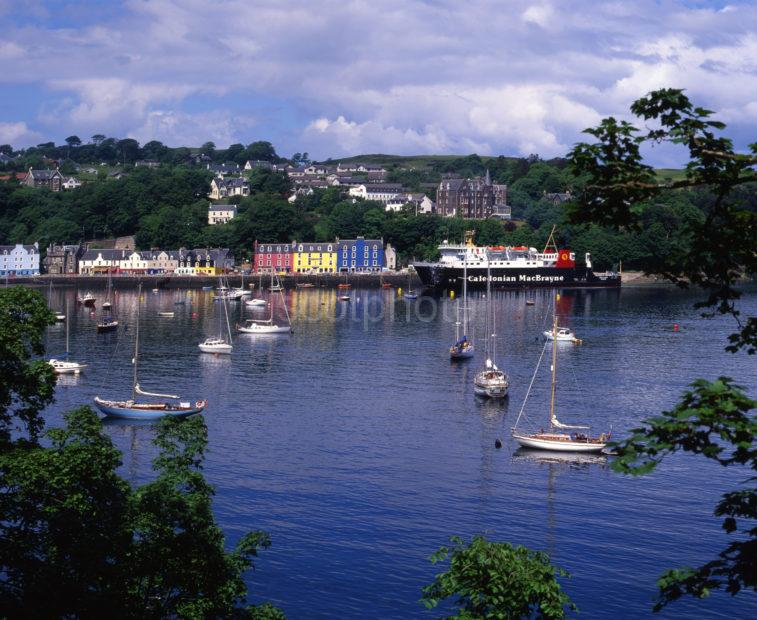 Tobermory Bay And Town From The East Island Of Mull