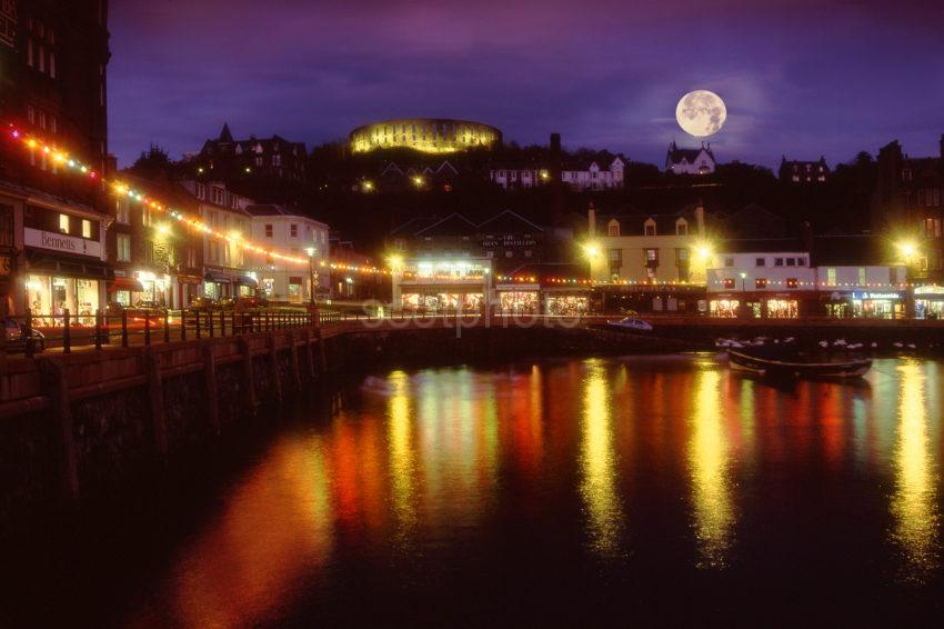 Oban At Night From North Pier Aqpprox 2008