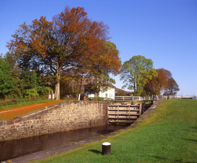 Autumn View Showing The Neptunes Staircase On The Caledonian Canal Corpach Fort William Lochaber 2
