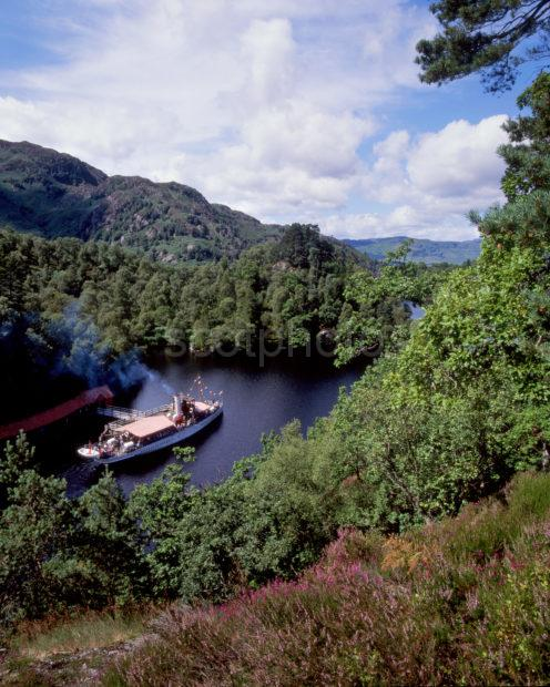 Autumn In The Trossachs Above Loch Katrine With S W S