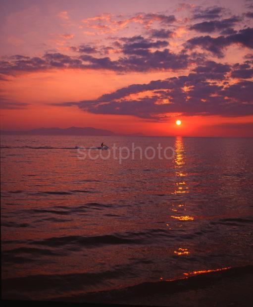 Sunset Over The Ayrshire Coast