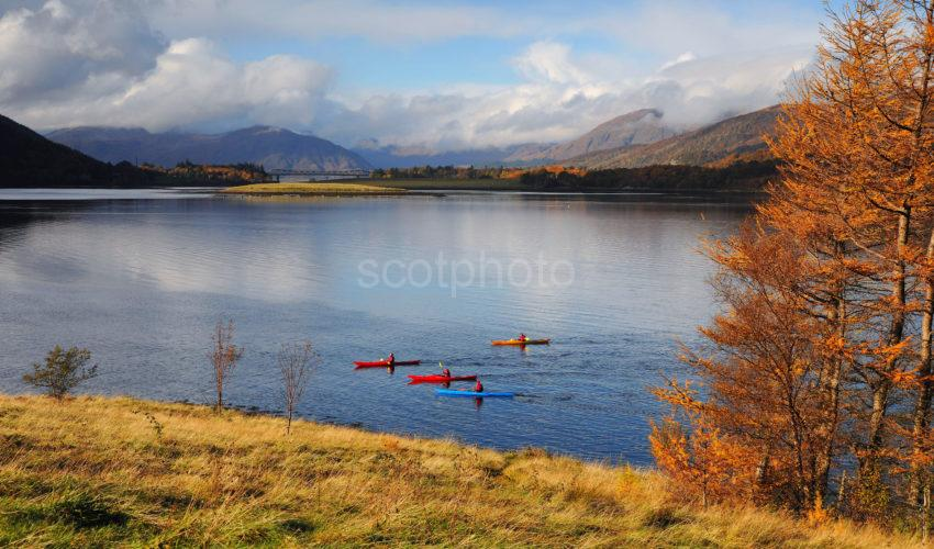 CANOES ON LOCH LEVEN LOOKING WEST 1