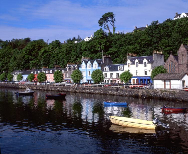 Tobermory Seafront From Pier Island Of Mull