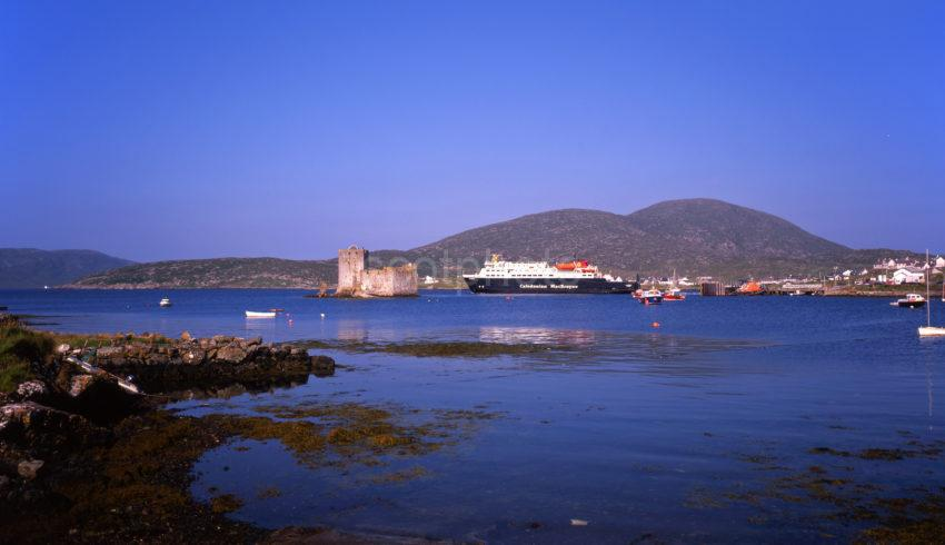 Castle Bay With Kisimul Castle And The Clansman Island Of Barra Outer Hebrides